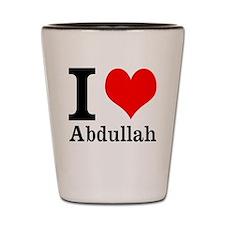 I Heart Abdullah Shot Glass