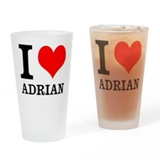 I Heart Adrian Drinking Glass