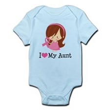 Aunt Breast Cancer Support Infant Bodysuit