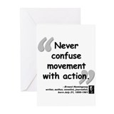 Hemingway Action Quote Greeting Cards (Pk of 10)