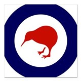 "New Zealand Roundel Square Car Magnet 3"" x 3"""