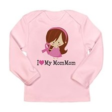 MomMom Breast Cancer Support Long Sleeve Infant T-