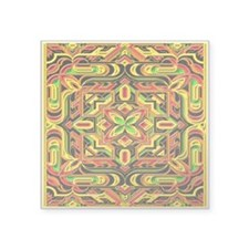 "Colorful Mazes Square Sticker 3"" x 3"""