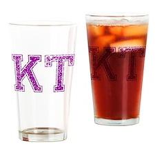 KT, Vintage Drinking Glass