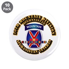 Army - 10th Mountain Div w Afghan SVC Ribbons 3.5""