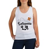 Lafayette Louisiana Butterfly Women's Tank Top