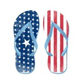 Cute Fourth of july Flip Flops