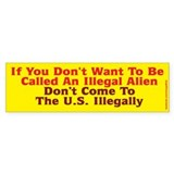 illegal Alien Bumper Bumper Stickers