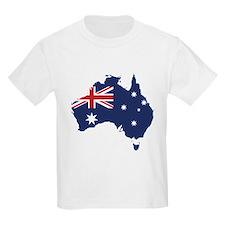 Flag Map of Australia T-Shirt