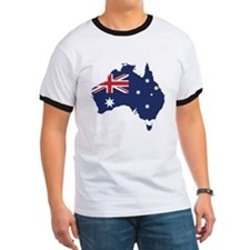 Flag Map of Australia T