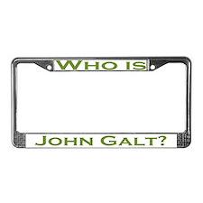 Who is John Galt License Plate Frame GREEN