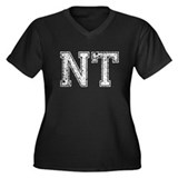 NT, Vintage Women's Plus Size V-Neck Dark T-Shirt