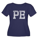 PE, Vintage Women's Plus Size Scoop Neck Dark T-Sh