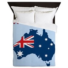 Map Of Australia Queen Duvet