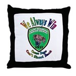 St. Bernard SWAT Throw Pillow