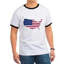 Flag Map of the USA T