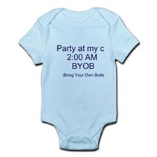Cute Party in my crib Infant Bodysuit