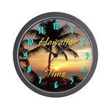 Hawaiian Time Wall Clock