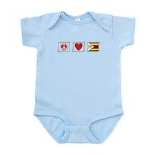 Peace Love and Zimbabwe Infant Bodysuit