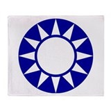 Taiwan Roundel Throw Blanket