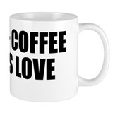 Naked + coffee equals love mug