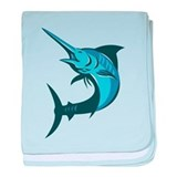 Blue marlin Baby Blankets