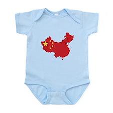 Flag Map of China Infant Bodysuit