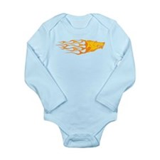 Wolf Flames Long Sleeve Infant Bodysuit