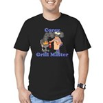Grill Master Corey Men's Fitted T-Shirt (dark)