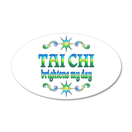 Tai Chi Brightens 20x12 Oval Wall Decal