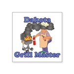Grill Master Dakota Square Sticker 3