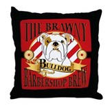 The Brawny Bulldog Barbershop Brew Throw Pillow