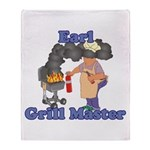 Grill Master Earl Throw Blanket