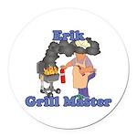 Grill Master Erik Round Car Magnet