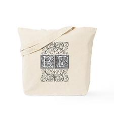 BF, initials, Tote Bag