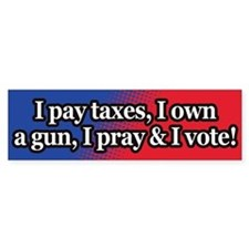 Taxes, guns, vote