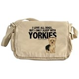 I Sleep with Yorkies Messenger Bag