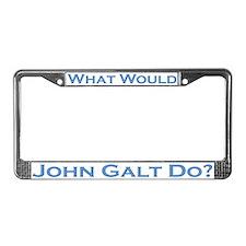 What Would John Galt Do BLUE License Plate Frame