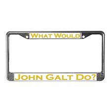 What Would John Galt Do GOLD License Plate Frame