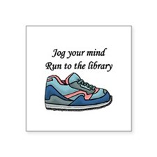 """Jog Your Mind"" Square Sticker 3"" x 3"""