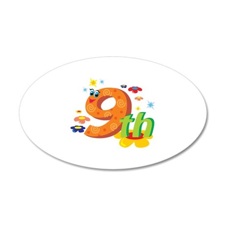 9th Celebration 22x14 Oval Wall Peel