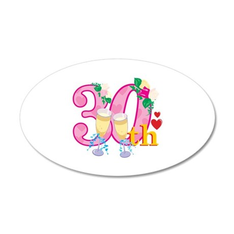 30th Celebration 38.5 x 24.5 Oval Wall Peel