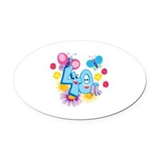40th Celebration Oval Car Magnet