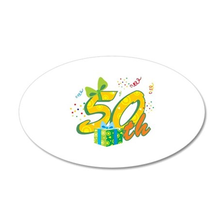 50th Celebration 22x14 Oval Wall Peel