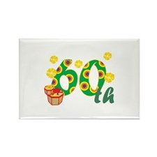 60th Celebration Rectangle Magnet