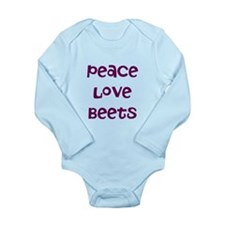 Peace Love Beets Long Sleeve Infant Bodysuit