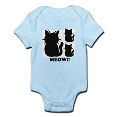 MEOW Silhouette Cats Infant Bodysuit