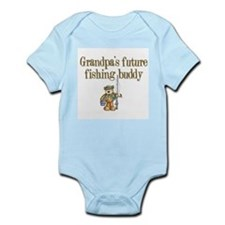 Grandpa's Future Fishing Buddy Infant Creeper