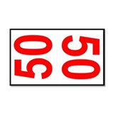 50 Autocross Number Plates Car Magnet 20 x 12