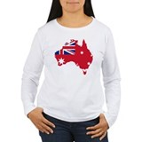 Australia Civil Ensign Flag and Map T-Shirt